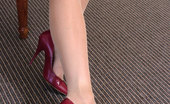 Stiletto Tease A Private Session With Charlie Where You Can Enjoy Her Legs Encased In Soft Sheen Silky Hose And Sexy Pointed High Heel Shoes