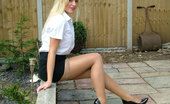 Stiletto Tease 460795 May Be You Have Just Seen A Girl Like Amy Walking Along Your Local High Street In Very High Heels And A Short Tight Skirt. You Felt Your Passion Rising But You Just Couldn'T Get A Good Enough Look At Her To Fulfil Your Desires. Well Here'S Your Chance To