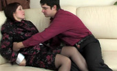 Matures and Pantyhose Judith & Adam Lewd Mature Chick In Black Pantyhose Giving Her Lover New Fucking Sensation