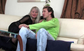 Matures and Pantyhose Jessica & Rolf Dressed Up Blonde Mature In Black Pantyhose Blowing Meat And Getting Boned