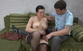 Matures and Pantyhose Elsa & Lucas Chubby Milf Uses Silky Pantyhose For Blowjob Before Sizzling Hot Dicking