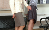 Matures and Pantyhose Harriet & Florence Older Lady-Boss Seducing Her Younger Secretary Into Freaky Pantyhose Sex