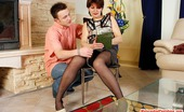 Matures and Pantyhose Christina & Douglas Frisky Milf In Black Tights Playing With Anal Beads Before Jumping On Pole