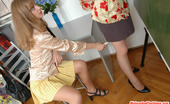 Matures and Pantyhose Muriel & Diana Lusty Mature Gal In Control Top Tights Revealing Her Desire To Taste Pussy