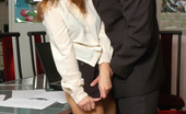 Matures and Pantyhose Shenythia & Roger Raunchy Mature Secretary Getting Her Sheer-To-Waist Pantyhose Cum-Covered