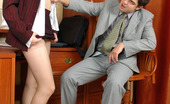 Matures and Pantyhose Rita & Adam Sex-Crazy Mature Secretary Ready For Sizzling Hot Screwing Right On A Table