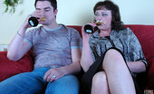 Matures and Pantyhose Emilia & Adam Sleazy Mom In Barely There Hose Eating Meat And Getting Banged From Behind