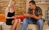 Matures and Pantyhose Amelia Mature Blonde In Patterned Suntan Hose Getting Impaled On A Big Studly Cock