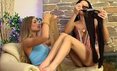 Licksonic Stephana & Diana Two Pretty Broads Play With Hosiery Licking And Rubbing Their Nyloned Slits