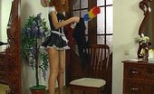 Licksonic Cora & Jaclyn Salacious Sappho Makes Her Heated French Maid Jump On Her Big Strap-On Cock