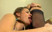 Licksonic Gertie & Irene Blindfold Chick Awaits For New Hot Sensations While Tasting A Soaking Pussy