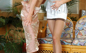 Licksonic 462087 Leah & Alice Extremely Seductive Gals In Tan Hold Ups Getting To Their First Lesbian Sex