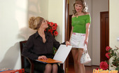 Licksonic Kathleen & Irene Strict Office Babe Sweet Talked Into Having Pink Lunch And Hot Dildo Toying