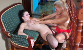 Licksonic Sibylla & Hannah Hot Chick Drinks Champagne While Getting Her Muff Eaten By A Hungry Lesbo