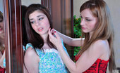 Licksonic Beatrice & Rosa Red Hot Sappho Talks A Tasty Babe Into Her First Girl-On-Girl Pussy-Licking