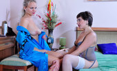 Licksonic Lottie & Dolly Hot Pussy-Licking Thru Pantyhose Leads To A Wild Toy Fuck For Lesbian Gals