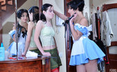 Licksonic Inessa & Veronica Naughty Chick Hikes Up Her Skirt Revealing A Strapon For Lez Entertainment