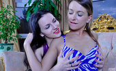 Licksonic Denis & Becky Curious Girl Opens Up Her Fresh Cookie For Her Girlfriend'S Strapon Cock