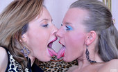 Licksonic Irene & Barbara Sexy Housewives Get Hot For Some Lesbian Tongue Job While Trying New Gowns