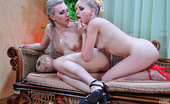 Licksonic Betty & Judith Sensual Sapphos Strip Naked For Sweet Tongue Kisses And Some Clam-Diving
