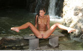 Met Art Met Art Vasua A Forest Nymph Named Melena A With Beautiful Tanned Complexion And Slender Body Playfully Poses Naked Amongst The Rocks And Trees By The Waterfall. Melena A Mark Vasua