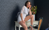 Anilos Anilos Tammie Lee Classy MILF Strips Off Her Skin Tight Lace Dress