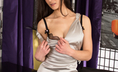 Anilos Anilos Michelle Khan Classy Milf With A Round Juicy Ass Wears A Skin Tight Satin Dress