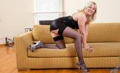 Anilos Anilos Katya Gannau Naughty Blonde Milf Wears Ultra Sexy Black Lingerie