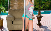 Nubiles.net Nubiles.net Alex Little Beautiful Blonde Coed Gives A Sexy Tease On A Shiny Pole