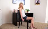 Nubiles.net Nubiles.net Erika Devine Seductive Blonde Wears A Tiny Mini Skirt And Lace Bra