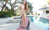 Nubiles.net Nubiles.net Willow Hayes Beautiful Brunette With Big Puffy Nipples Strips Down By The Pool For Naughty Fun