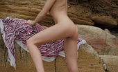Amour Angels Amour Angels Alien An Amazing Strip And Tease Show By A Gorgeous Skinny Teen Babe Who Shows Her Flawless Slim Body Outdoors At A Beach.