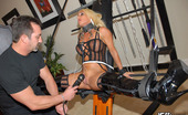 It's Real Super Hot Blonde Gets Her Clit Tied Up And Pussy Fucked In These Leather Whip Sex Pics It's Real