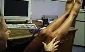 Nylon Fetish Videos Attended Feet A Pert Blonde Soothes Her Cares Away With A Quick And Dirty Stocking Foot Rub Nylon Fetish Videos