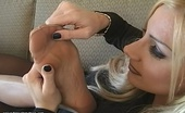 Nylon Fetish Videos Hard Working Nylons Two Sexy Ladies Put Their Pretty Feet Up And Start Stroking The Nylon Nylon Fetish Videos