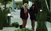 Nylon Fetish Videos Nylons At Work These Two Sexy Ladies Love The Sensation Of Sauntering In Nylons On Concrete Nylon Fetish Videos