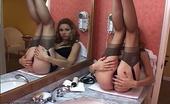 Nylon Fetish Videos With Furtive Hand Feisty Jamie Smiles As She Anticipates The Sensual Joys Of Stockings And Sin Nylon Fetish Videos