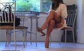 Nylon Fetish Videos Feeling Morning Pussy Sexy Mia Presley Saunters Through The Morning With New Stockings Nylon Fetish Videos