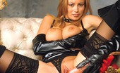 Nylon Fetish Videos Bigtit Lingerie Clad All In Leather -- Including Gloves -- This Gal Is Certainly Dressed For SEXcess! Nylon Fetish Videos