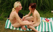 Nude Beach Dreams A Sexy Redhead Gives Her Man Some Great Head At The Nude Beach. Nude Beach Dreams