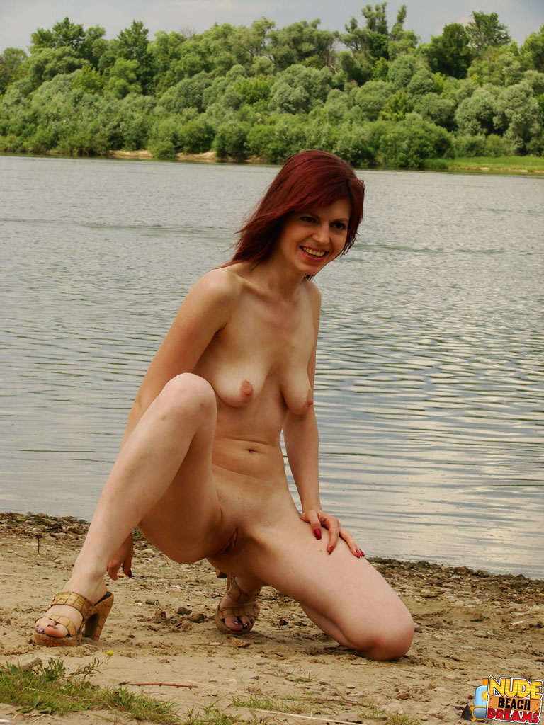 Nude Beach Dreams 469368 A Sexy Redhead Gets Nude At The Beach And Shows Off Her Perfect Shaved Pussy. Nude Beach Dreams
