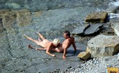 Nude Beach Dreams Blonde MILF Caught Sucking Cock At The Beach Nude Beach Dreams