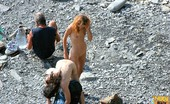 Nude Beach Dreams Sexy Redhead Girl Totally Naked At The Beach Nude Beach Dreams