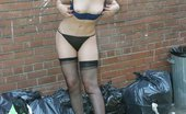 Nylon Angie Dirty Angie A Sexy Girl Changing Outside Nylon Angie