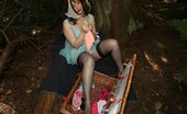 Nylon Angie 469944 Dirty Angie Horny In Public In A Babydoll Nylon Angie
