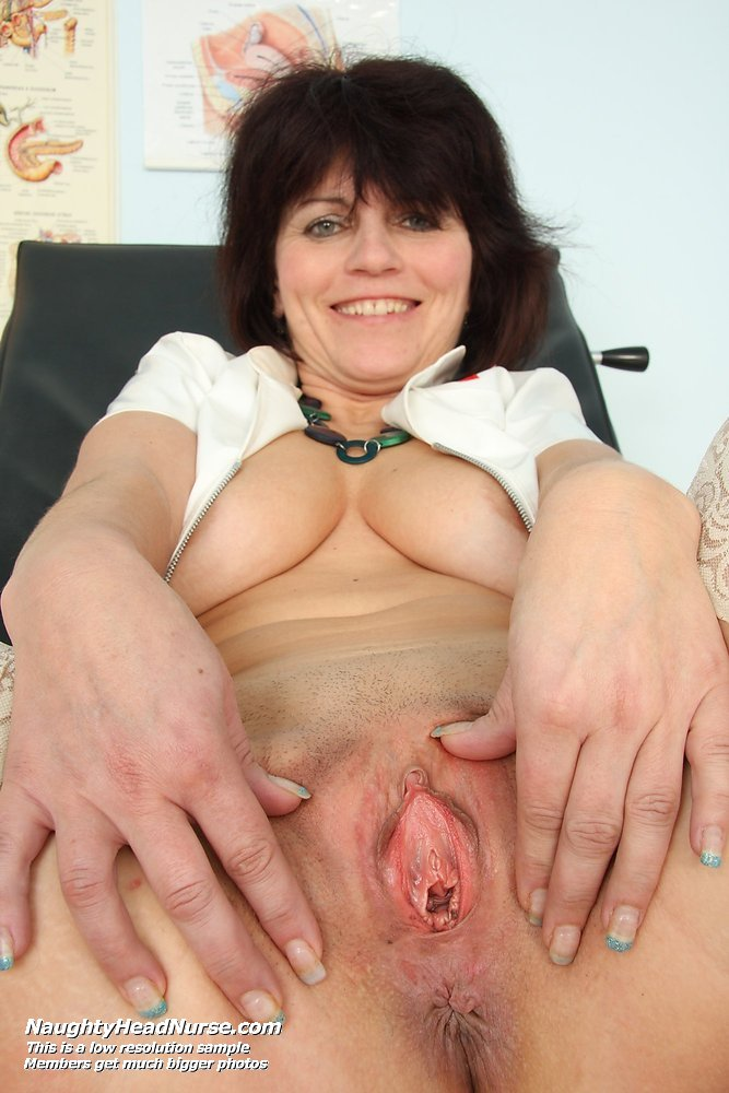 Aged gyn doctor spreads young lily pussy - 1 part 6