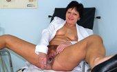 Naughty Head Nurse Eva Eva Aged Curious Nurse Beaver Sex Toy Masturbation On Gynochair Naughty Head Nurse