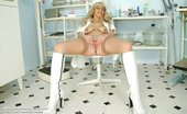 Naughty Head Nurse Jirina Perverse Mature Nurse Jirina Fingers Herself With Vaginal Speculum On Gyno Chair Naughty Head Nurse