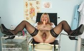 Naughty Head Nurse Irma Dirty Skilled Nurse Irma Rubbing Pussy With Gynecological Tool On Gyno Chair Naughty Head Nurse