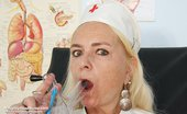 Naughty Head Nurse 470894 Vera Vera Older Old Nurse Vagina Masturbation At Gyno Clinic With Vagina-Expander And Fake Penis Naughty Head Nurse